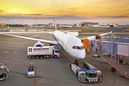Luftfracht Import und Export durch die Hanse Service internationale Fachspedition GmbH in Hamburg. Weltweite Air Logistik. cargo Air-Plane