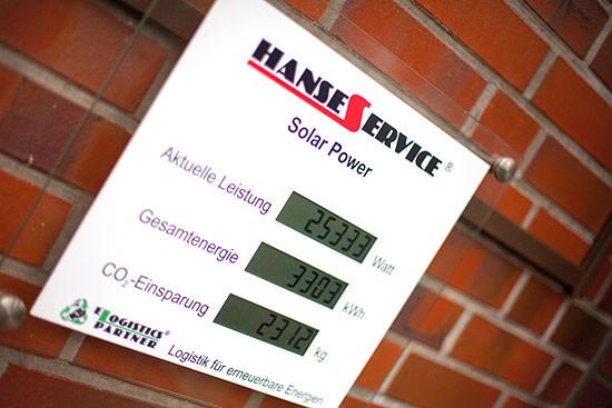 Soarstrom beim Logistiker Hanse Service - Erneuerbare Energie